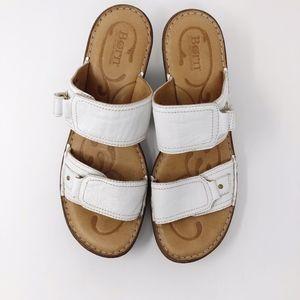 Born White Bellot D30201 Wedge Sandals - Size 10